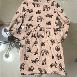 Girl's H&M Circus Animal Dress Pockets sz 6-8